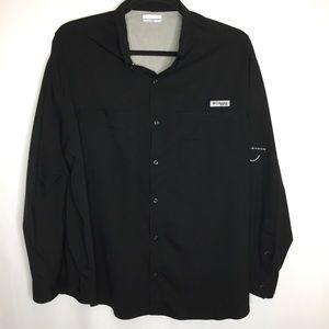 Columbia PFG Omni Shade black shirt jacket